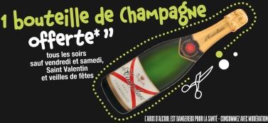 1 bouteille de Champagne offerte